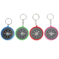 Outdoor compass keychain outdoor camping plastic compass hiking hike sgBCDE