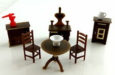 Dolls House Miniature 1:48 Scale Plastic Kitchen Furniture Set
