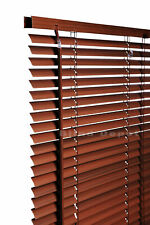 60cm X 120cm Walnut Wood Effect PVC Venetian Blinds