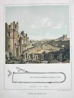 ITALY Rome Remains of Circus Maxentius !! Antique Tinted Print Original