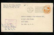 US Postal History WWII Military #UC3 APO #574 1945 Chartres France New York NY