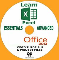 LEARN MICROSOFT OFFICE 2013 EXCEL BEGINNERS / ADVANCED IT VIDEO TRAINING PC-DVD