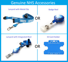 NHS Lanyard OR Badge Reel OR ID Card Holder. Logo Printed. Select your Accessory