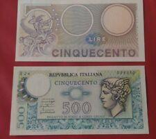 BELLISSIMA BANCONOTA 500 LIRE TESTA DI MERCURIO LIRA REPUBBLICA ITALIANA FDS????