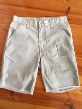 Mens Boy Walking Casual Shorts Beige Front Back Pockets Waist 77 cm 30 inch