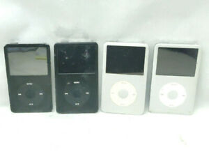 Apple iPod Classic 6th Generation Silver & Black Lot of 4 For Parts 80GBx3 120GB