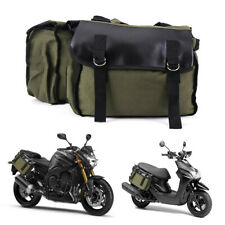 Universal Motorcycle Saddlebags Canvas Saddle Bags Waterproof Storage Pouch Bag
