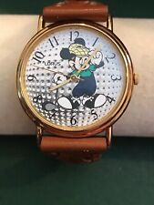 "MICKEY MOUSE Lorus Disney ""Golf Ball Mickey Dial"" N-Mint w/Box MEN'S WATCH R2-14"