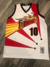 Minty San Miguel Beerman Phillippine PBA Basketball Jersey-Adult Large ILDEFONSO