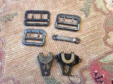 Civil War Era 19th Century Suspender Buckles, Other Clothing Clasps