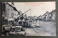 CPA. St SAUVEUR LES LUXEUIL. 70 - La Rue aux Puits. Cheval. Enfants. 1916