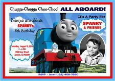 THOMAS THE TRAIN CUSTOM PRINTABLE BIRTHDAY PARTY INVITATION & FREE TY CARD