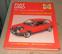 Fiat Uno 1983 To 1995 Haynes Service And Repair Manual