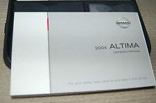 Owner's Manual Set for 2004 Nissan Altima OEM