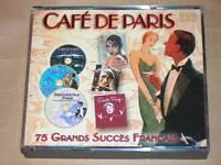 COFFRET 3 CD / CAFE DE PARIS / 75 GRANDS SUCCES FRANCAIS / TRES BON ETAT