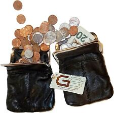 2 Ladies Leather Grand Change Purse coin bag Women's Wallet Le Porte-monnaie bn