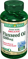 100 Flaxseed Oil 1200mg Nature's Bounty Supplement Vitamins Heart Health Omega-3