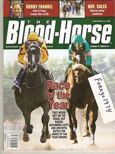 ZENYATTA & RACHEL ALEXANDRA BLOOD HORSE MINT NO LABEL BLOODHORSE PROGRAM