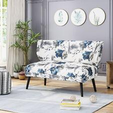 Dumont Modern Farmhouse Fabric Settee
