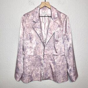 Coldwater Creek Women's 16 Lightweight Blazer Jacket Abstract Print