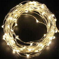 20 100 LED Wire String Lights Fairy Christmas Xmas Party Decor Wedding Supply