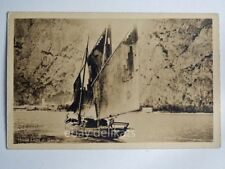 LAGO DI GARDA barca vela sailing boat vecchia cartolina 16098