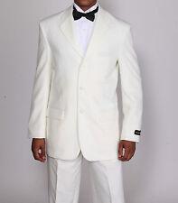 Men's 2 Piece  White & Black Tuxedo  Suit 3 Botton Style T-802