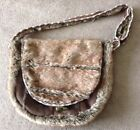 Handmade Faux Fur Native American  Messanger Style Drum Bag picture