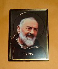 2 -ST SAINT PADRE PIO PETROCINA Magnet Frame Pic NEW Franciscan