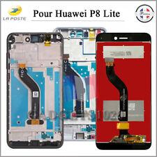 ECRAN LCD COMPLET POUR HUAWEI P8 LITE 2017 NOIR/BLANC SUR CHASSIS / SANS CADRE