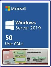 New Windows Server 2019 Standard/Datacenter 50 USER Client Access Licenses CALs