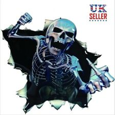 3D Skull Skeleton Car Sticker Decal, Motorbike, Bumper, Scary, Helmet- UK Seller