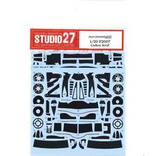 1/20 Ferrari F2007 Studio 27 Templated Carbon Fibre Waterslide Decal Set