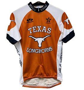 Vintage VOLER Men's Medium University of Texas Longhorns Cycling Jersey Orange