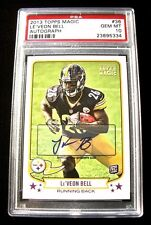 Le'VEON BELL Steelers Autographed 2013 Topps Magic #36 Football Card ~ PSA 10