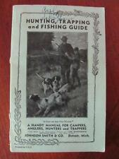 Antique Johnson Smith Hunting Trapping Fishing Camping Guide Sportsman