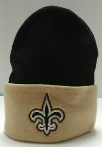 New Orleans Saints Cuffed Knit Cap From NFL Team Apparel - Free Ship