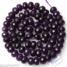 5x8mm Faceted Purple Russian Amethyst Abacus Gemstone Loose Bead 15'' AAA