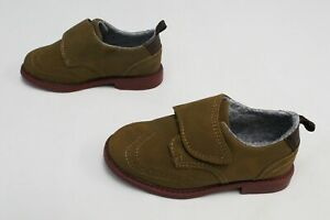 Carter's Boy's Hard Bottom Dano Hook And Loop Dress Shoes CL8 Khaki Size US:8