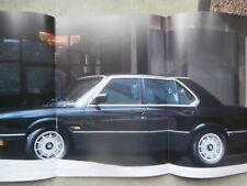 BMW 520i 528i 535i Südafrika E28 Katalog englisch Brochure 3/1986