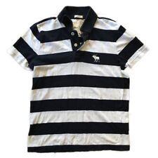 Abercrombie Kids Navy And White Striped Polo Shirt Size XL C16