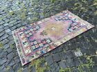 Bohemian rug, Handmade wool rug, Turkish vintage rug, Carpet | 2,4 x 4,4 ft