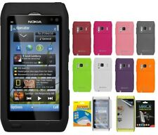 AMZER Skin Jelly TPU Case / Screen Protector For Nokia N8 N9 Lumia 800 Cover UK
