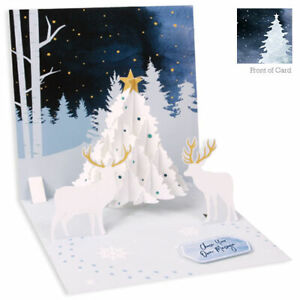 3D Pop Up Greeting Card from Up With Paper - MIDNIGHT TREE - UP-WP-X-1385