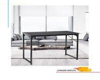 Table Bureau Simple Ordinateur PC En Acier Etanche 108 *55 cm Noir Poste Travail