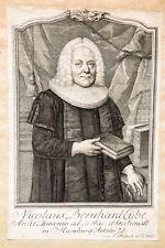 1757 Eybe Nicolaus Bernhard Theologe Hamburg Kupferstich-Porträt Fritzsch