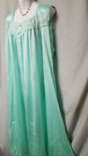 "Only Necessities Green Nightgown Long Sleeveless Sexy Plus Size 4X 68"" BUST"