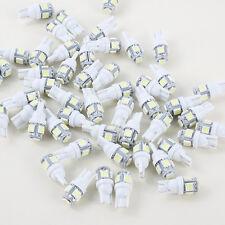 10pcs 50Pcs T10 194 168 2825 5 x 5050 SMD LED White Bright Car  Lamp Bulb Lights