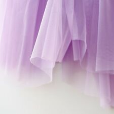 Lilac Pastel Light Purple Soft Tulle Veiling Fabric 150cm wide - by the metre