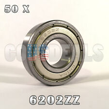 6202Z 6202ZZ 6202 Z 6202 ZZ Deep Groove Ball Bearing 15mm x 35mm x 11mm 50 Pcs
